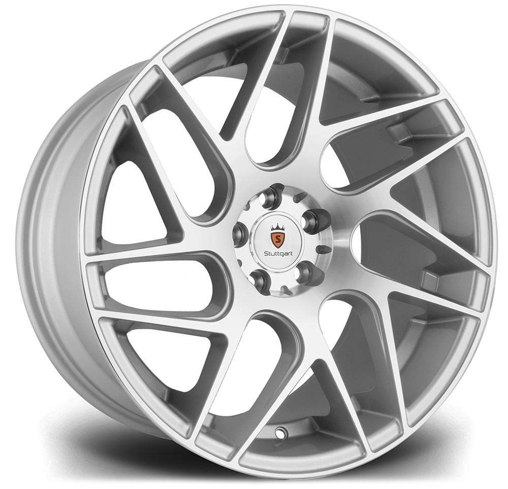 18 Quot Stuttgart St12 In Silver Machined Face 5x112 For