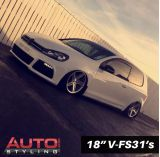 "18"" 8J Fronts and 9J Rears on VW Golf with 215/40/18 Tyres"