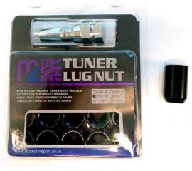M12 x 1.5 Tapered Seat x 4 alloy wheel Tuner slim nuts bolts lugs inc Hex Key